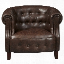 Pulaski Accentrics Home Faux Leather Accent Chair in Brown
