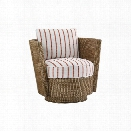 Tommy Bahama Twin Palms Tarpon Bay Swivel Chair in Brown
