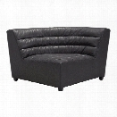 ZUO Soho Faux Leather Corner Chair in Black