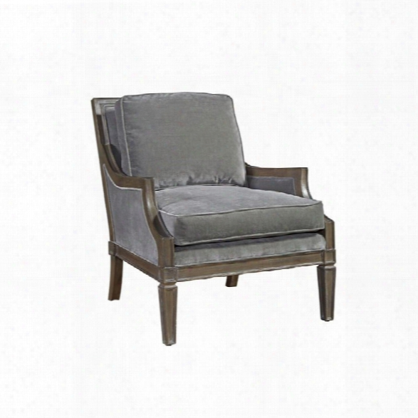 Universal Furniture Curated Crosspoint Velvet Arm Chair In Gray