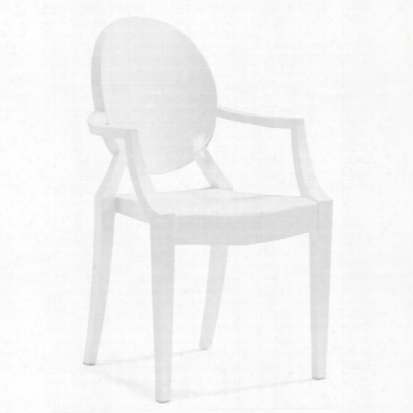 Zuo Anime Acrylic Stacking Chair In White (set Of 4)