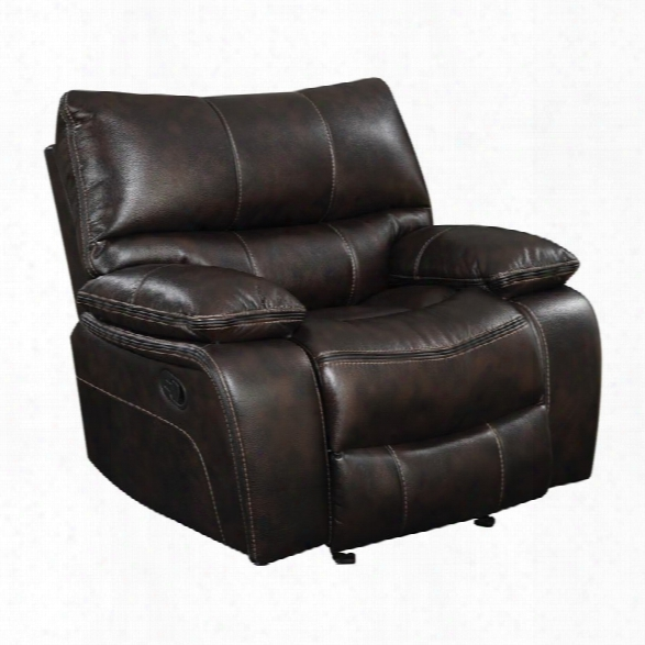 Coaster Willemse Recliner With Lumbar Support In Chocolate