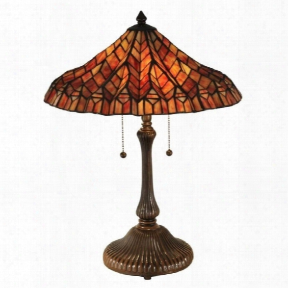 Dale Tiffany Red Lotus Table Lamp