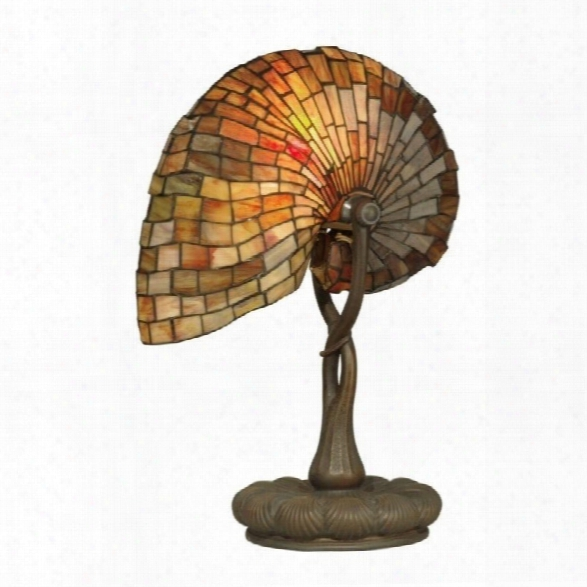 Dale Tiffany Red Nautilus Table Lamp
