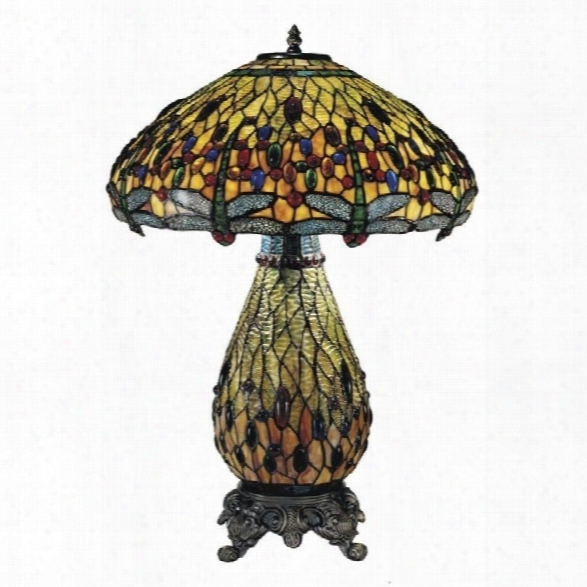 Dale Tiffany Ridesia Jeweled Dragonfly Atble Lamp