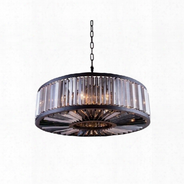 Elegant Lighting Chelsea 44 10 Light Royal Crystal Pendant Lamp