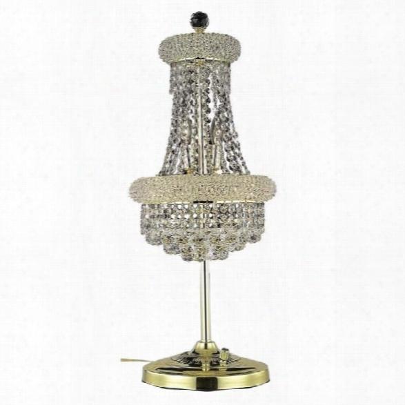 Elegant Lighting Primo 26 6 Light Royal Crystal Table Lamp