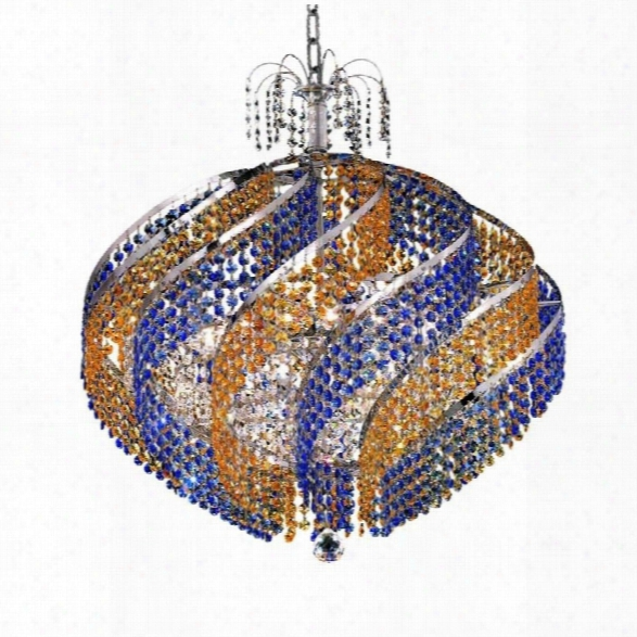 Elegant Lighting Spiral 26 15 Light Elements Crystal Pendant Lamp