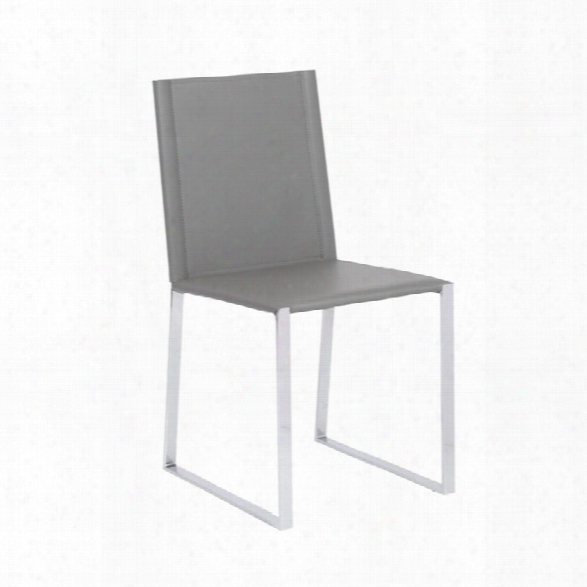 Eurostyle Cora Dining Chair In Gray (set Of 2)
