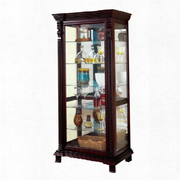 Furniture Of America Lisandro Traditional Curio Cabinet In Espresso