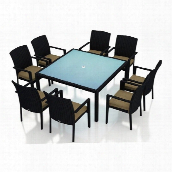 Harmonia Living Urbana 9 Piece Square Patio Dining Set In Beige