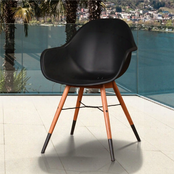 International Home Amazonia Charlotte Deluxe Patio Armchair In Black (set Of 4)