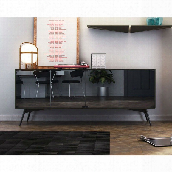 Modloft Christopher Sideboard Buffet In Asphalt Matte