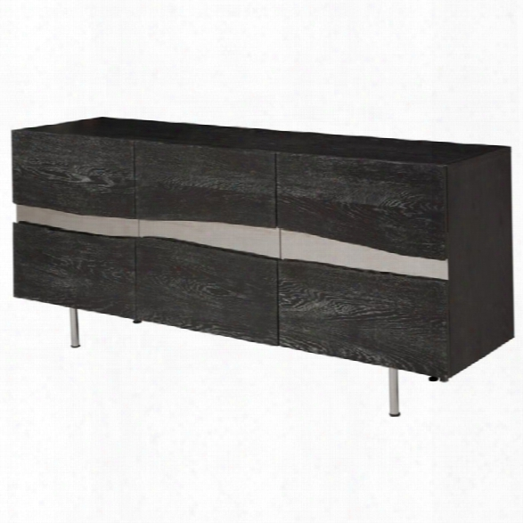 Nuevo Sorrento Sideboard In Oxidized Gray