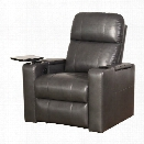 Abbyson Living Michelle Power Leather Recliner in Gray