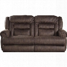 Catnapper Atlas Extra Tall Power Reclining Fabric Sofa in Sable