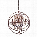 Elegant Lighting Geneva 20 5 Light Royal Crystal Pendant Lamp