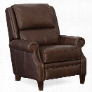 Hooker Furniture Jared Leather Recliner in Brown