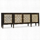 Hooker Furniture Sanctuary 4-Door Mirrored Console in Ebony
