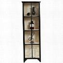 Pulaski Sunset 4 Shelf Display Cabinet in Black