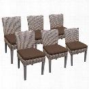 TKC Oasis Patio Dining Side Chair in Dark Brown (Set of 6)