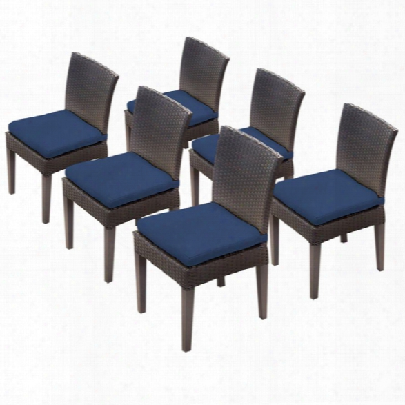 Tkc Napa Patio Dining Side Chair In Navy (set Of 6)