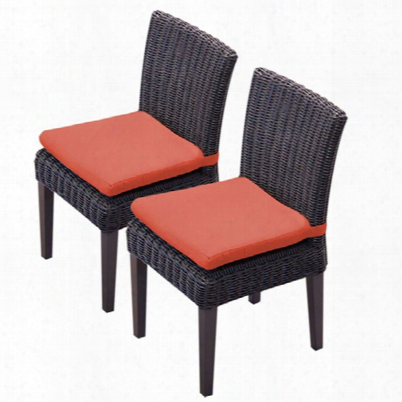 Tkc Venice Patio Dining Side Chair In Orange (set Of 2)