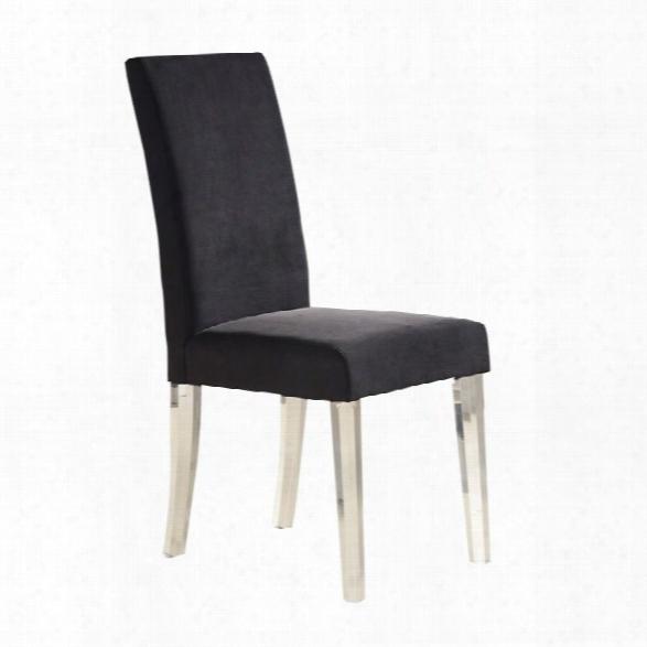 Armen Living Dalia Dining Chair In Black (set Of 2)