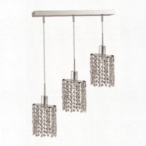 Elegant Lighting Mini 3 Light Elements Crystal Ellipse Pendant Lamp