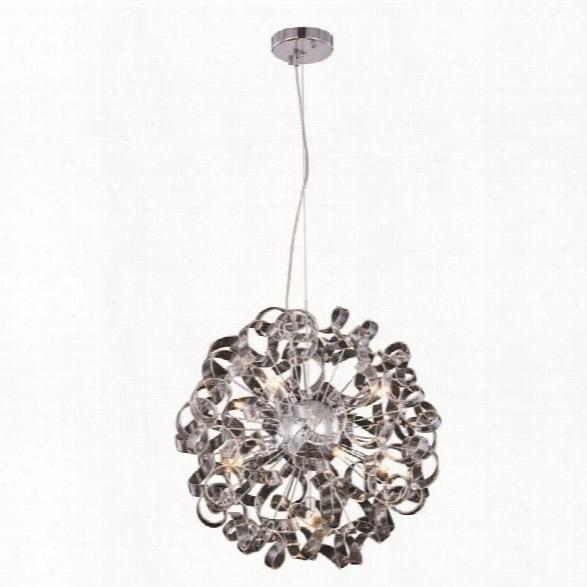 Elegant Lighting Ritz 24 9 Light Pendant Lamp In Chrome