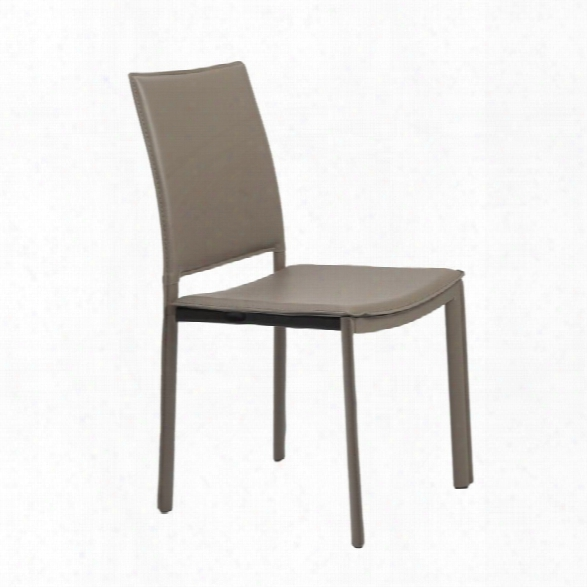Eurostyle Kate Dining Chair In Taupe Leatherette (set Of 4)