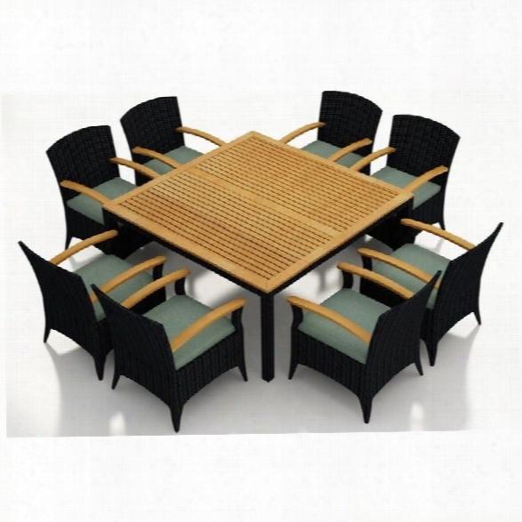 Harmonia Living Arbor 9 Piece Square Patio Dining Set In Canvas Spa