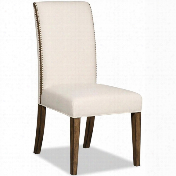 Hooker Furniture Bayeaux Natural Upholstered Dining Side Chair In Brown