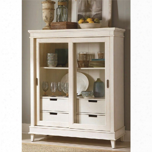 Liberty Furniture Summerhill Curio Cabinet In Rubbed Linen White