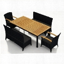 Harmonia Living Arbor 5 Piece Patio Dining Set in Canvas Charcoal