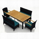 Harmonia Living Arbor 5 Piece Patio Dining Set in Spectrum Peacock