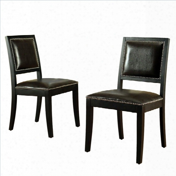 Abbyson Living Caralee Chair In Dark Truffle (set Of 2)