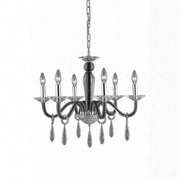 Elegant Lighting Avalon 23 6 Light Elements Crystal Chandelier