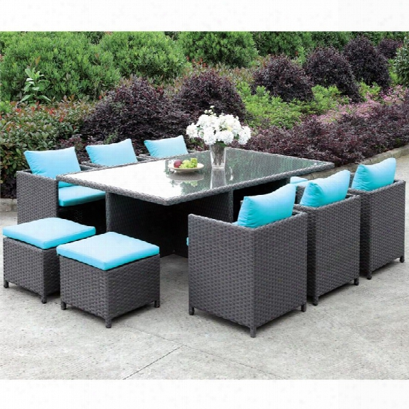 Furniture Of America Gallina 11 Piece Outdoor Dining Set