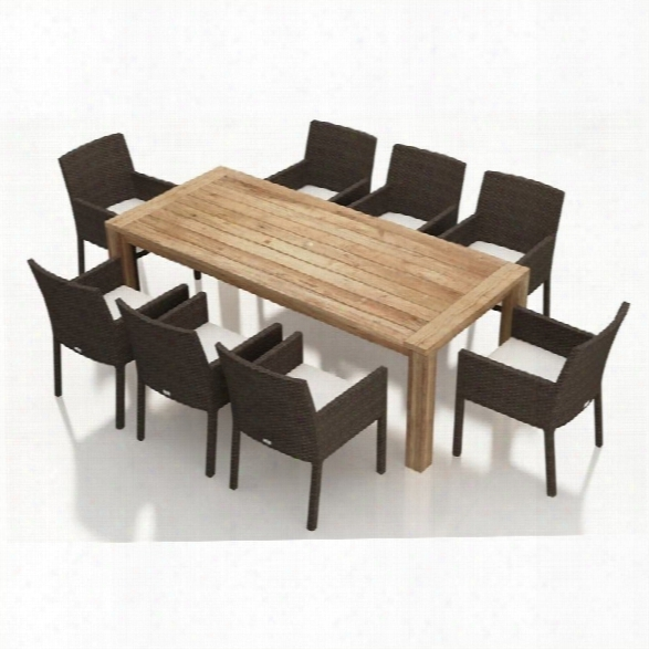 Harmonia Living Arden 9 Piece Patio Dining Set In Canvas Natural