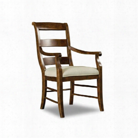 Hooker Furniture Archivist Dining Arm Chair In Pecan