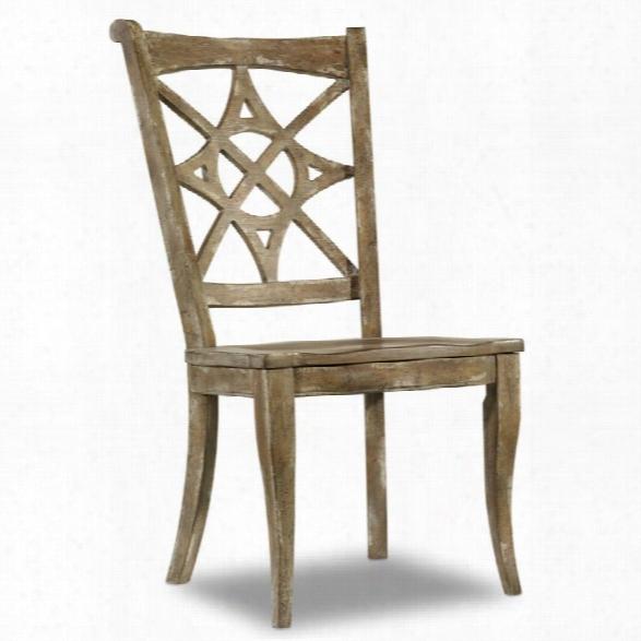 Hooker Furniture Melange Rafferty Ii Dining Side Chair In Light Brown