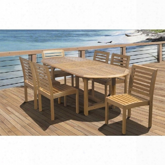 Internationla Home Eucalyptus 7 Piece Wood Patio Dining Set
