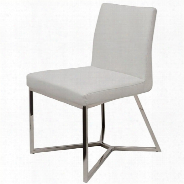 Nuevo Patrice Faux Leather Dining Side Chair In White