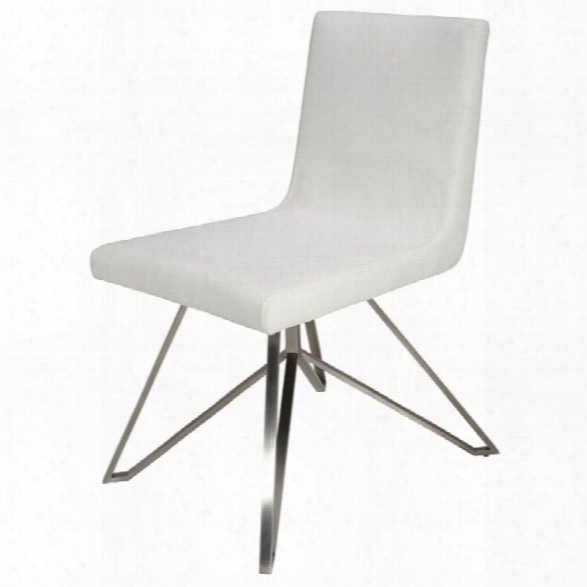 Nuevo Tanya Faux Leather Dining Side Chair In White