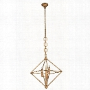 Elegant Lighting Nora 22 3 Light Pendant Lamp in Golden Iron