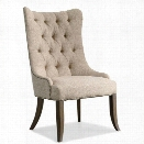 Hooker Furniture Rhapsody Tufted Dining Chair in Rustic Walnut