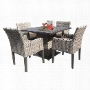 TKC Oasis 5 Piece 40 Square Patio Dining Set in Wheat