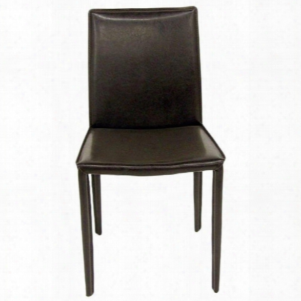 Aeon Furniture Aimee Stacking Dining Chair In Brown (set Of 4)