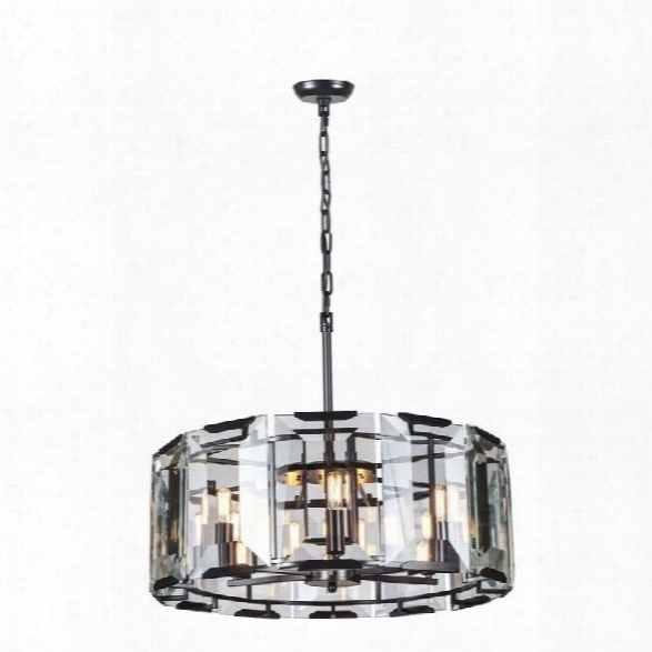 Elegant Lighting Monaco 26 6 Light Glass Crystal Pendant Lamp